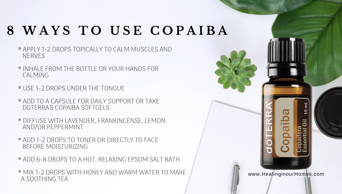 How to use Copaiba essential oil | Healing in our Homes | Healing in